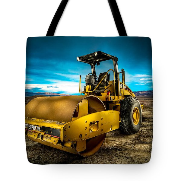 Caterpillar Cat Roller Cs563e Tote Bag