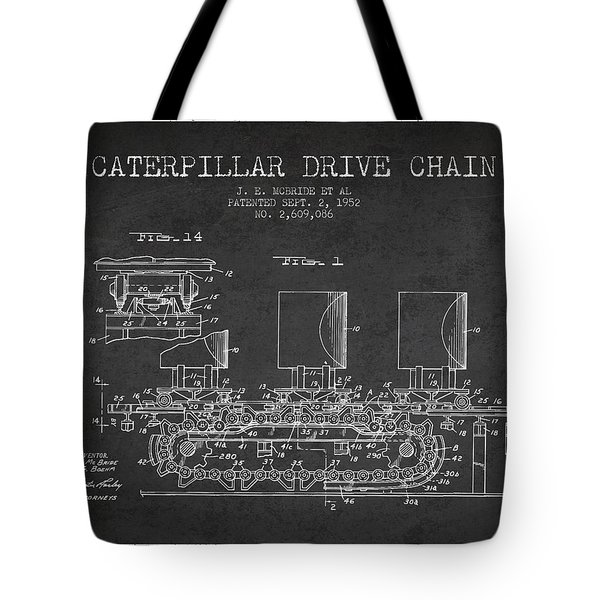 Caterpillar Drive Chain Patent From 1952 Tote Bag