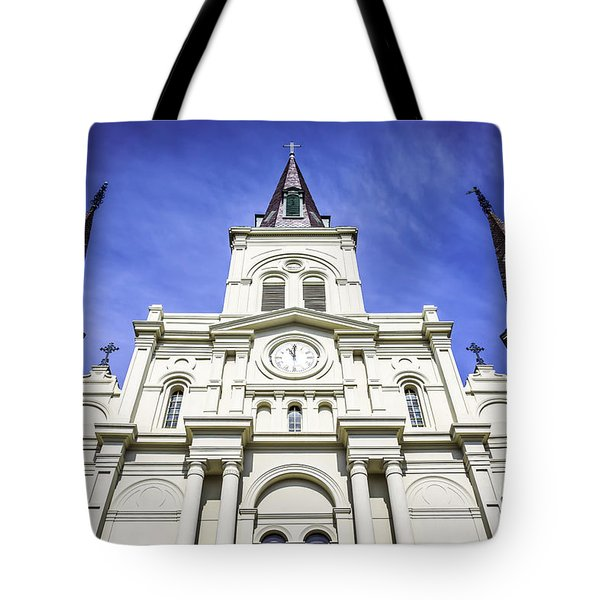 Cathedral-basilica Of St. Louis King Of France Tote Bag by Paul Velgos