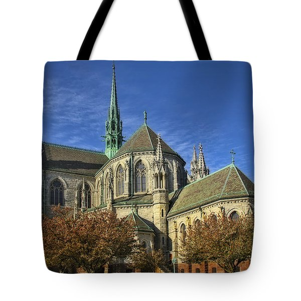 Cathedral Basilica Of The Sacred Heart Tote Bag by Susan Candelario