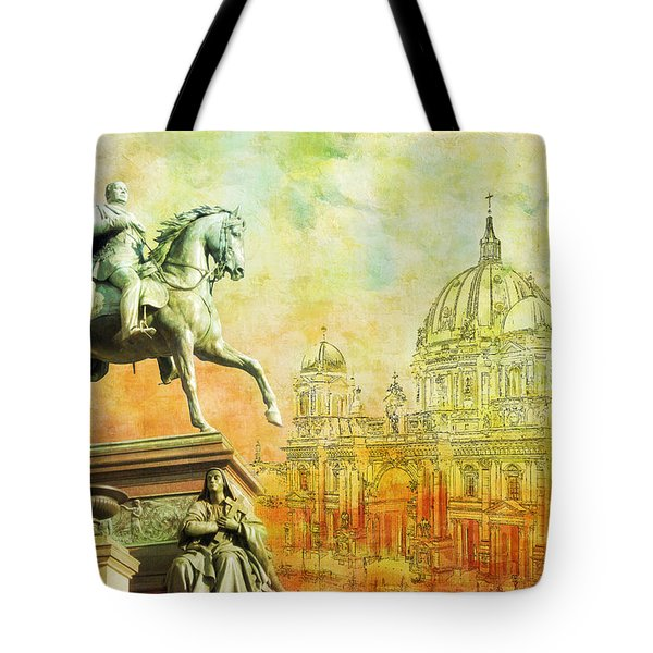 Cathedral De Berlin Tote Bag by Catf
