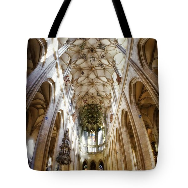Cathedral Glow Tote Bag by Joan Carroll