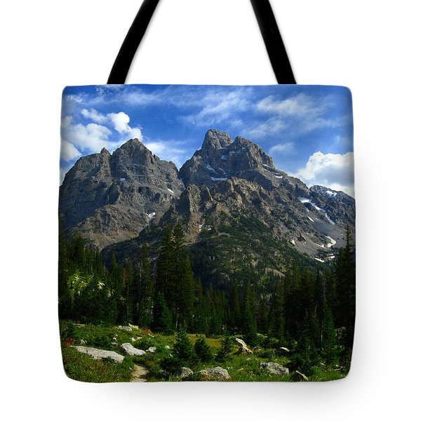 Tote Bag featuring the photograph Cathedral Group From The Northwest by Raymond Salani III