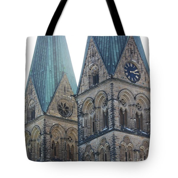 Cathedral In Bremen Tote Bag