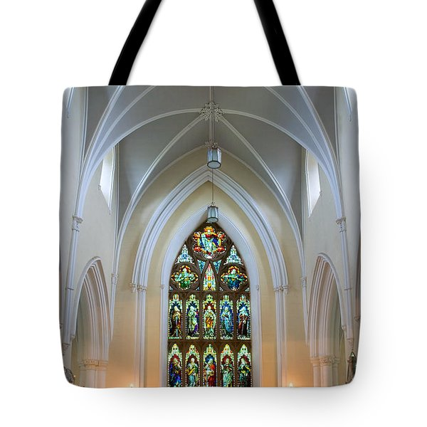 Tote Bag featuring the photograph Cathedral Interior by Jane McIlroy