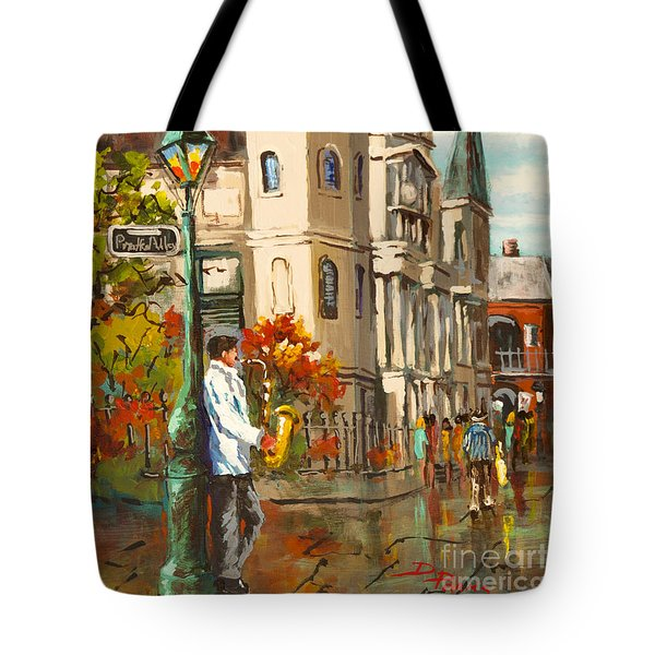 Tote Bag featuring the painting Cathedral Jazz by Dianne Parks