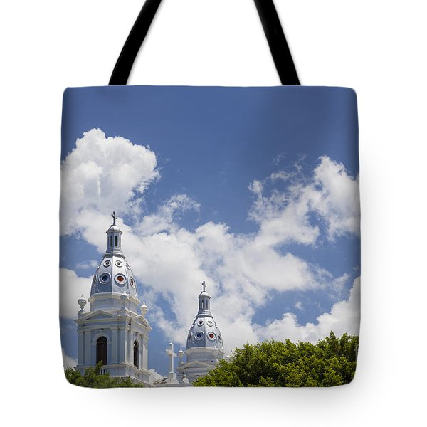 Tote Bag featuring the photograph Cathedral Nuestra Senora De Guadalupe In Ponce by Bryan Mullennix