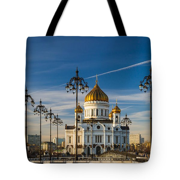 Cathedral Of Christ The Savior 3 - Featured 3 Tote Bag by Alexander Senin