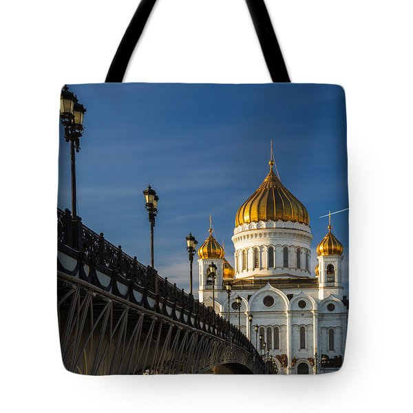 Cathedral Of Christ The Savior In Moscow - Featured 3 Tote Bag by Alexander Senin