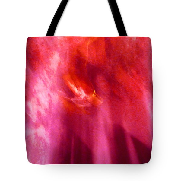 Tote Bag featuring the digital art Cathedral Of Fire And Light by Menega Sabidussi