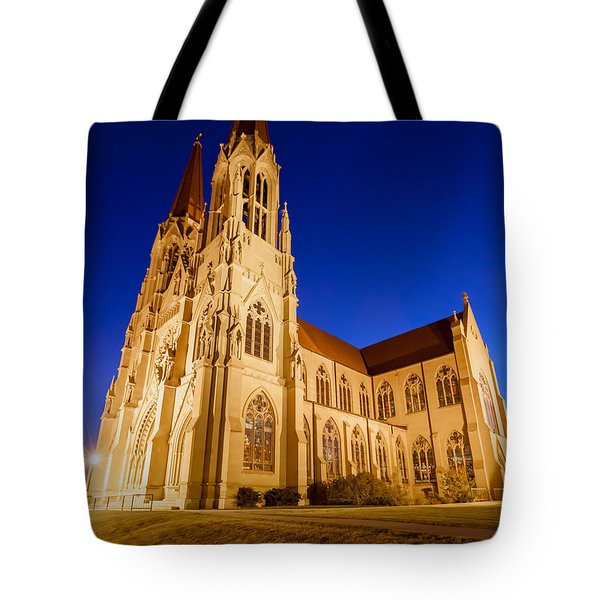 Morning At The Cathedral Of St Helena Tote Bag