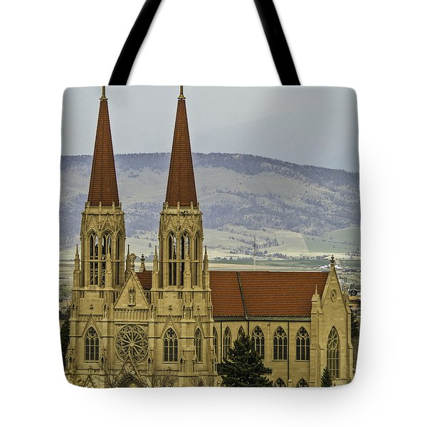 Cathedral Of St Helena Tote Bag by Sue Smith