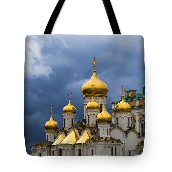 Cathedral Of The Annunciation Of Moscow Kremlin Tote Bag by Alexander Senin