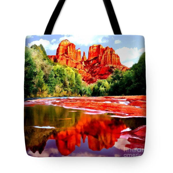 Cathedral Rock Sedona Arizona Tote Bag