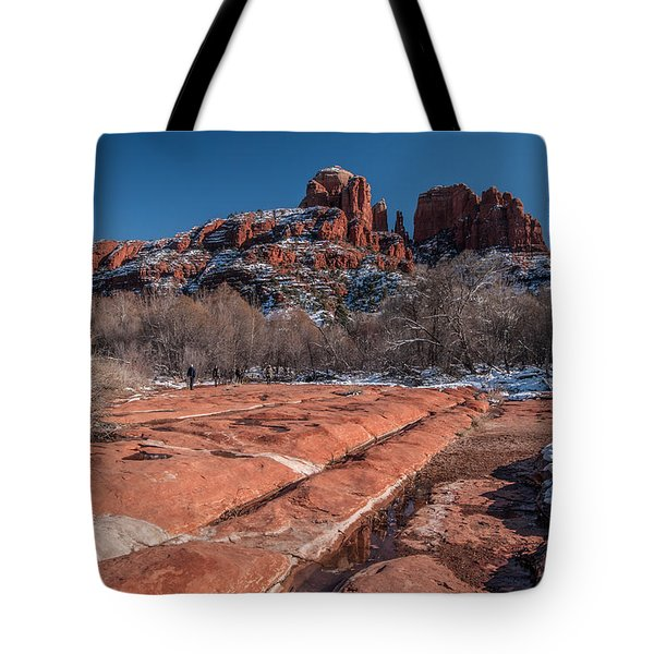 Cathedral Rock Winter Tote Bag