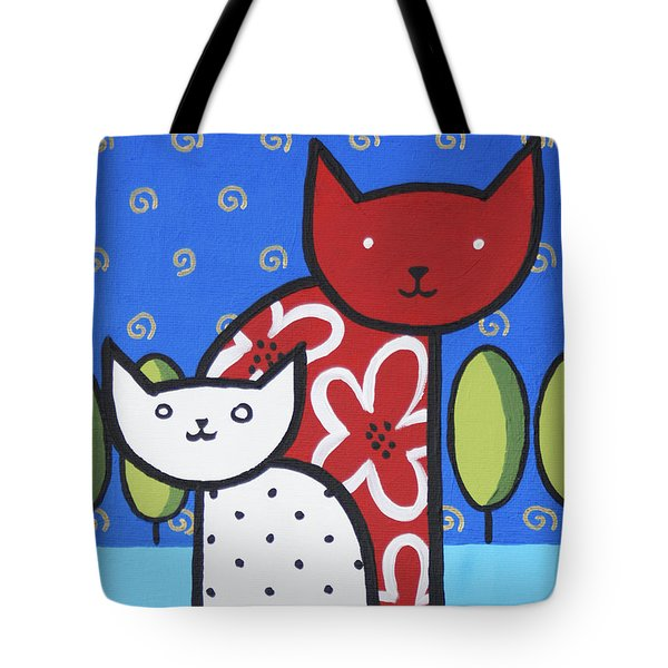 Cats 1 Tote Bag by Trudie Canwood