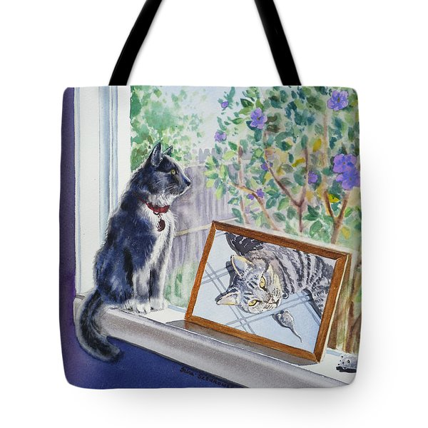 Cats And Mice Sweet Memories Tote Bag by Irina Sztukowski