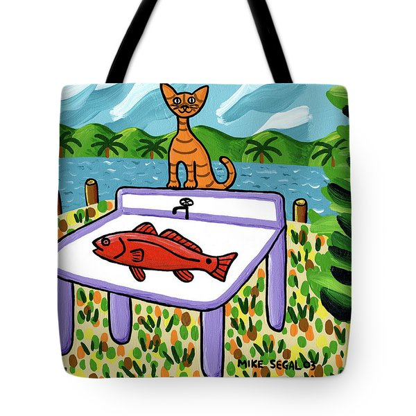 Cat's Fish - Cedar Key Tote Bag