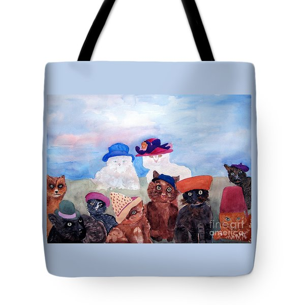 Cats In Hats Tote Bag