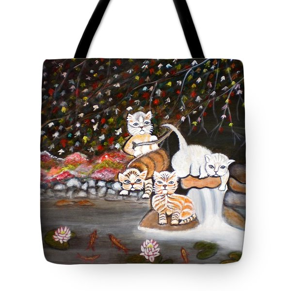 Cats In The Wild II Tote Bag