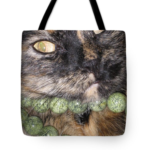 One In A Million... Beauty Of Cat's Eyes. Hello Pearl Collection Tote Bag