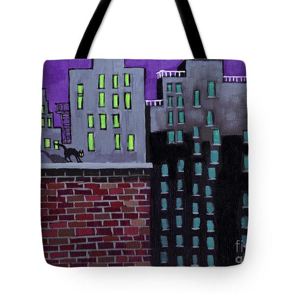 Cat's Night Tote Bag