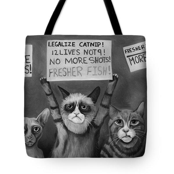 Cats On Strike Edit 5 Tote Bag