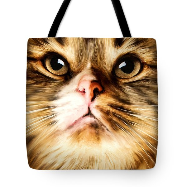 Cat's Perception Tote Bag by Lourry Legarde