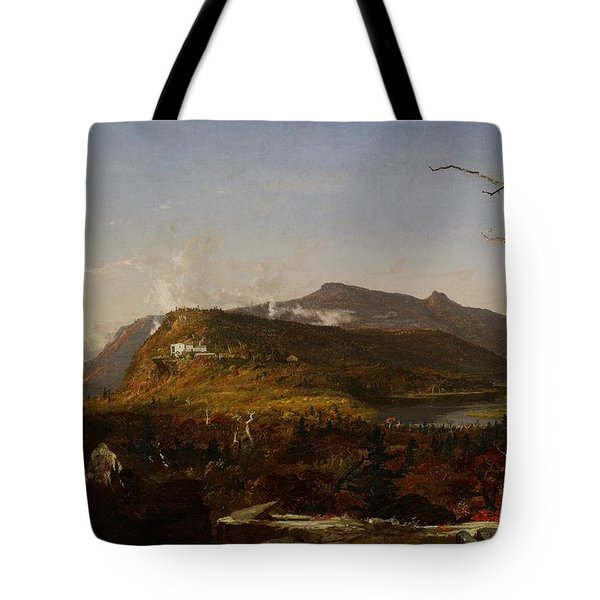 Catskill Mountain House Tote Bag by Jasper Francis Cropsey