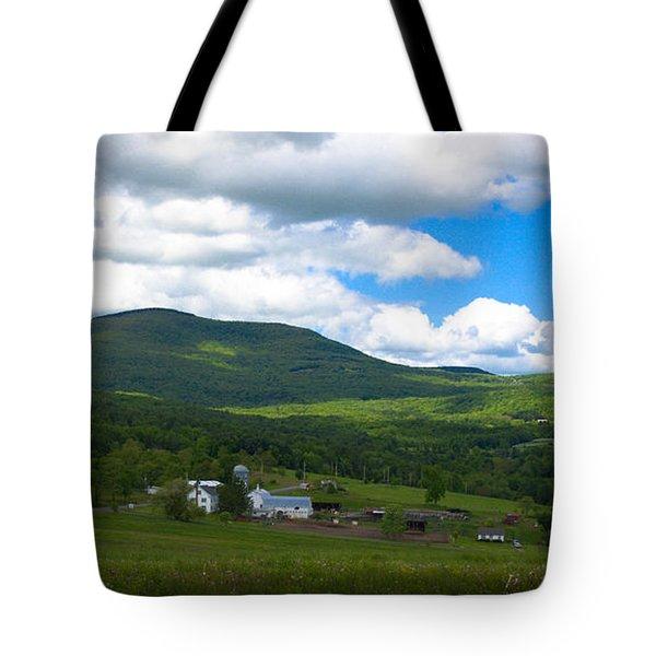 Catskill New York Farm Tote Bag