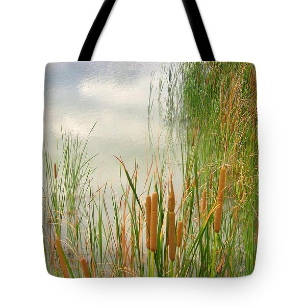 Tote Bag featuring the photograph Cattails by Marilyn Diaz
