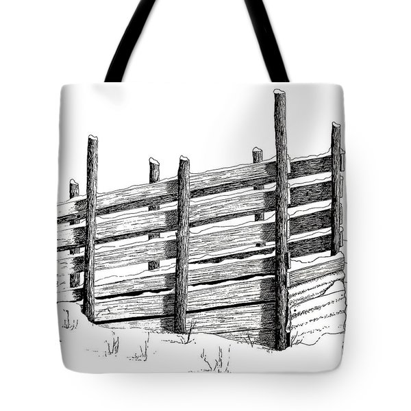 Cattle Chute Ink Tote Bag