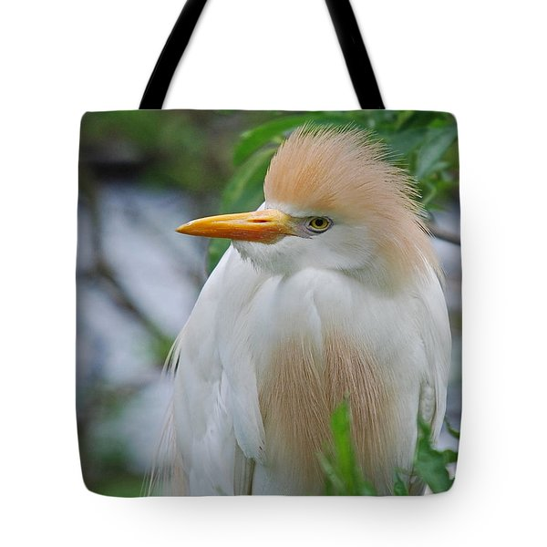 Cattle Egret Tote Bag by Skip Willits