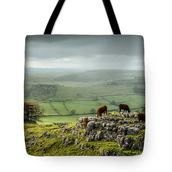 Cattle In The Yorkshire Dales Tote Bag