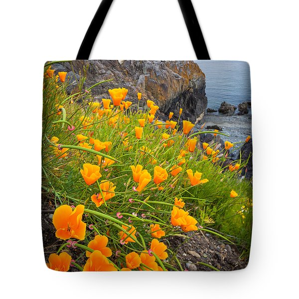 Cattle Point Poppies Tote Bag
