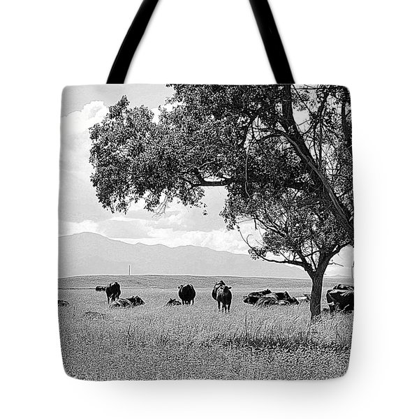 Cattle Ranch In Summer Tote Bag by Clarice  Lakota