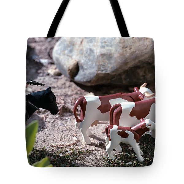 Cattle Rustler Tote Bag by Caitlyn  Grasso