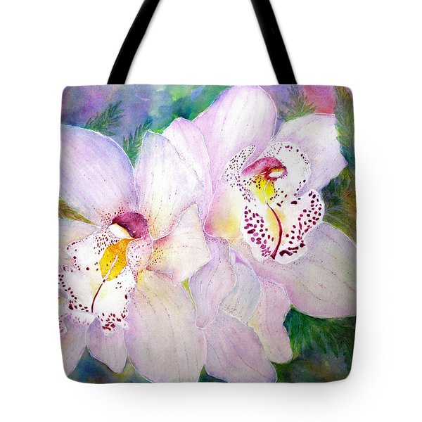 Cattleya Orchid Blue Tote Bag