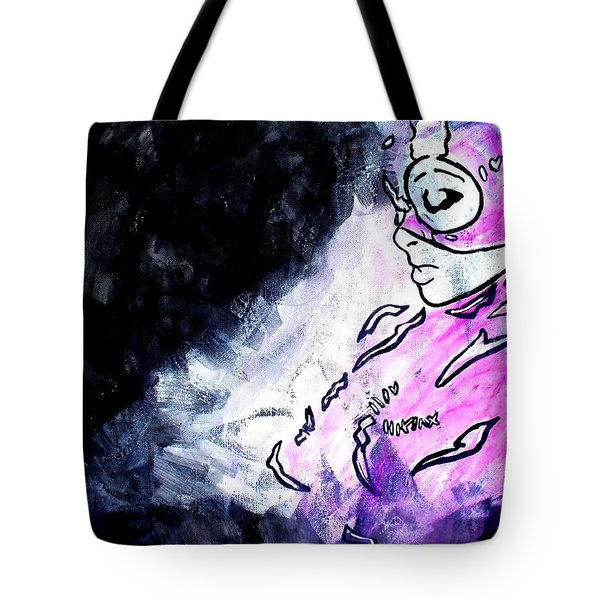 Catwoman Purple Suit Tote Bag