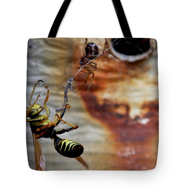 #caught Tote Bag by Becky Furgason