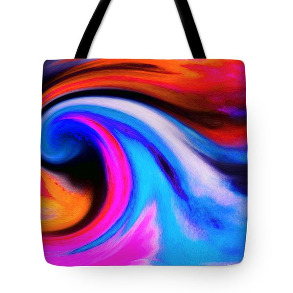 Caught Curl Tote Bag