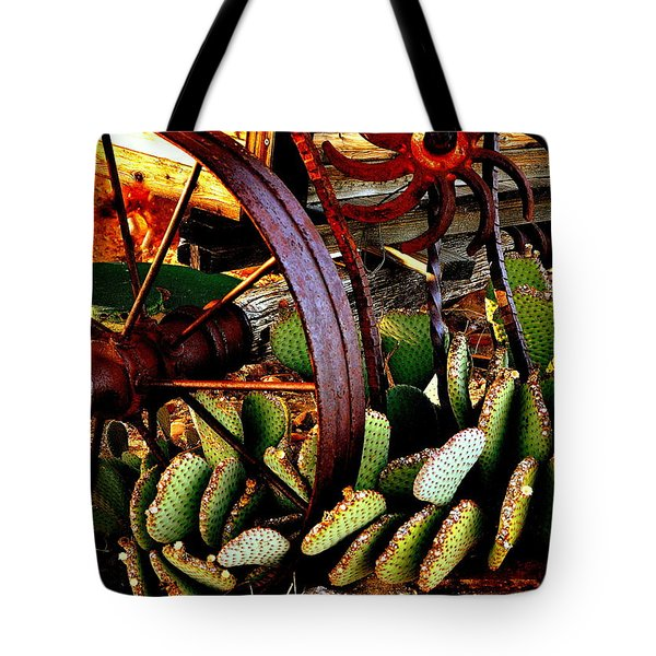 Tote Bag featuring the photograph Caught In A Cactus Patch-sold by Antonia Citrino
