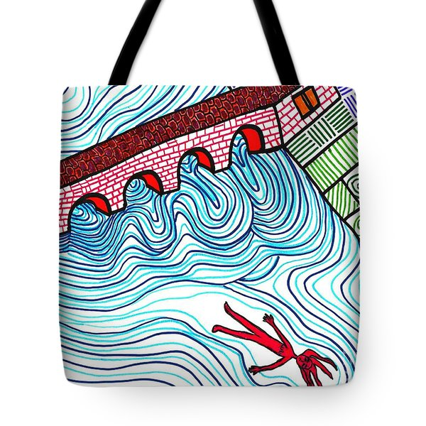 Caught In The Current Tote Bag by Sarah Loft