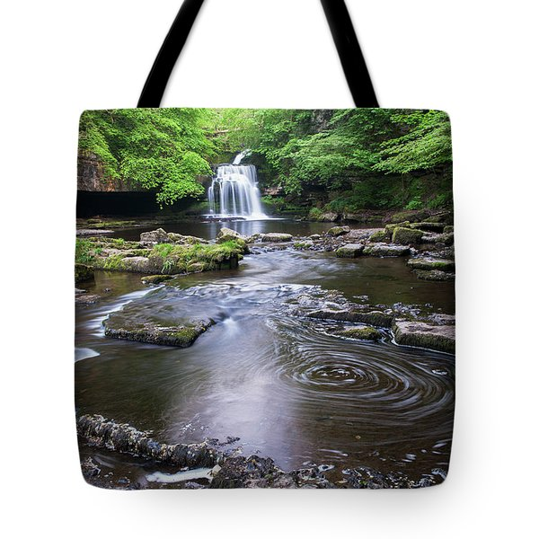 Cauldron Falls At West Burton Tote Bag