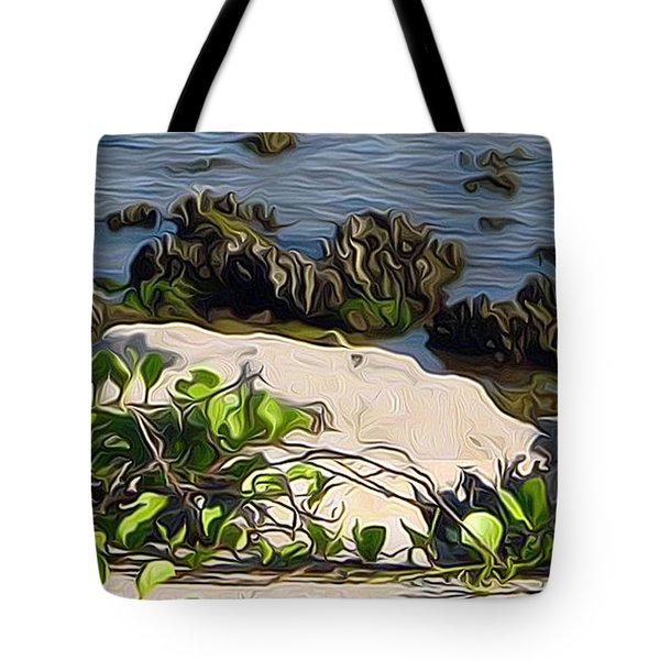 Causeway Shore Blues Tote Bag