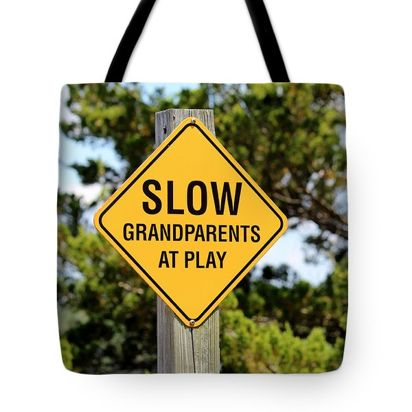 Caution Sign Tote Bag