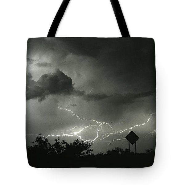 Tote Bag featuring the photograph Caution Signs by J L Woody Wooden