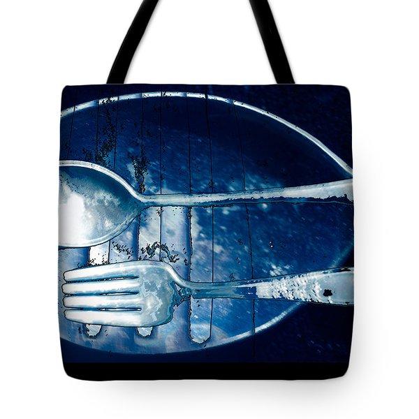Blue Luster Tote Bag