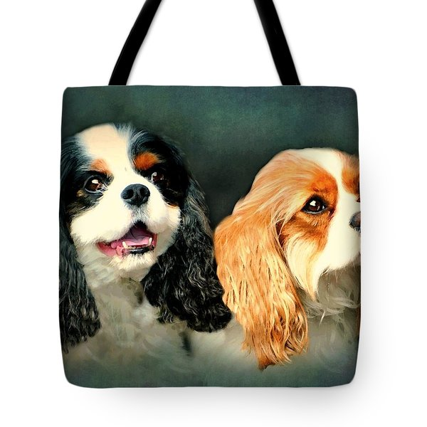 Cavalier King Charles Tote Bag by Diana Angstadt