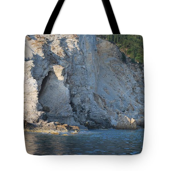 Tote Bag featuring the photograph Cave By The Sea by George Katechis